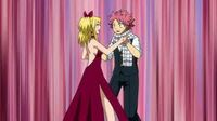 Natsu and Lucy at Aceto's ball