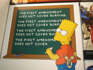 Bart Simpson 1st Amendment by wfyurasko