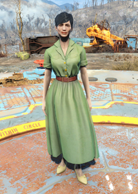 Fo4Laundered Green Dress
