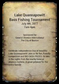 Fishing tournament ad