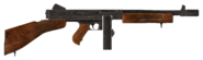 .45 Auto submachine gun with both modifications