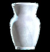 Glass vaulted vase
