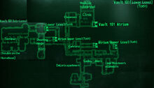 Vault 101 (lower level) loc map