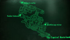 Hamiltons hideaway loc map