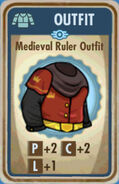 FoS Medieval Ruler Outfit Card