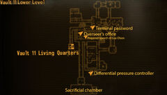 Vault 11 lower level loc map