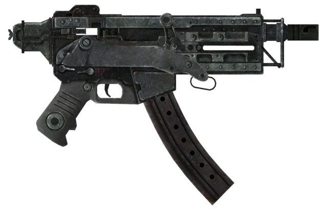 File:10mm SMG with extended mag and recoil comp.png