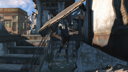 FO4 East Boston police station skeleton