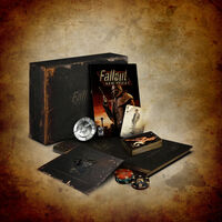 The Fallout: New Vegas Collector's Edition, shown with all bonus collector's items.
