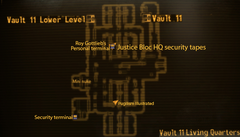 Vault 11 living quarters map