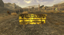 Nuclear test site radiation sign