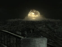 Megaton explosion night