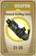 FoS Focused Gatling Laser Card