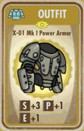 FoS X-01 Mk I Power Armor Card