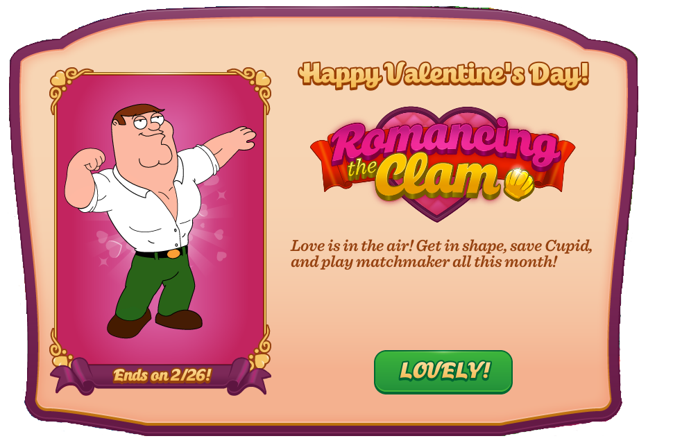 Valentineu0027s Day 2015 Event | Family Guy: The Quest For Stuff Wiki | FANDOM  Powered By Wikia