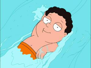 Swimming Brad