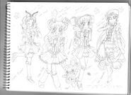 Pride wish precure clothes desing by beautifltart-d51613h