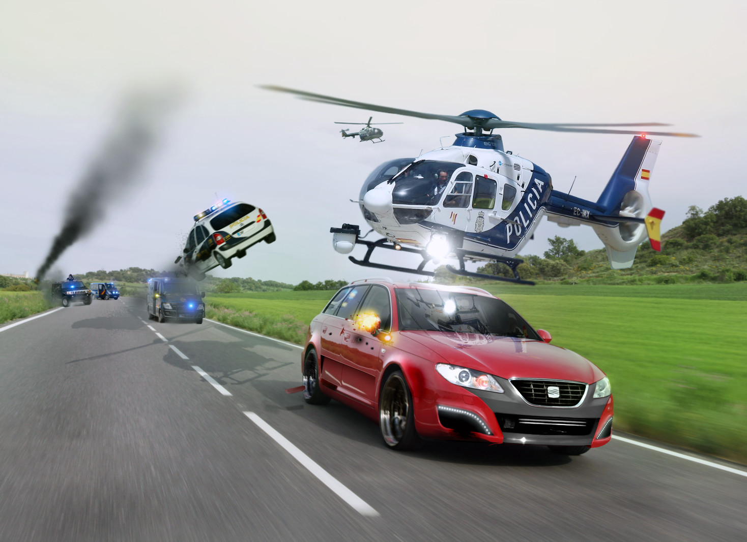 How to write a car chase