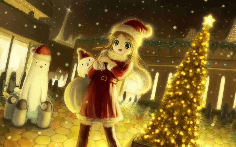 Image - Anime-Girl-Christmas-Scene-Wallpaper.jpg ...