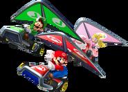 Mario, Luigi, and Peach