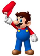 Mario waving
