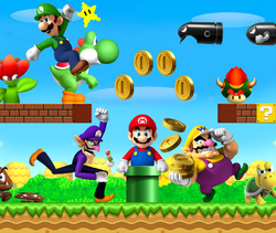 Super Mario Bros. 2010 Scene Art