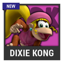 ACL -- Super Smash Bros. Switch character box - Dixie Kong