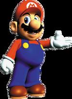 Mario Presenting Artwork - Super Mario 64