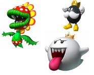 Petey Piranha,King Boo and King Bob-Omb