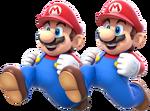 Double Mario Artwork - Super Mario 3D World
