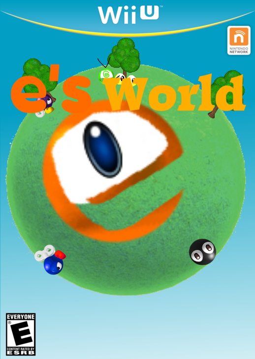 Wii U box art e's world done