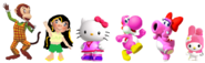 Yoshi rosa e amigas i