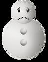 Snowman Sad