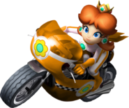 Mario kart wii daisy bike by tonytoad22-d3dizdr