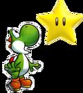Yoshi looking at a star