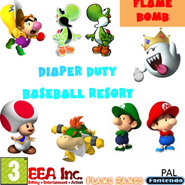 Diaper Duty Baseball Resort Flame Bomb BETA PAL