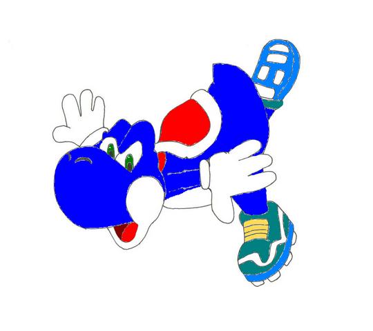 File:Blue Yoshi 2d.png