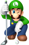Luigi Artwork - Mario Golf World Tour