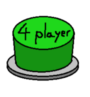 Green 4 player Button
