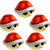 Five Red Shells