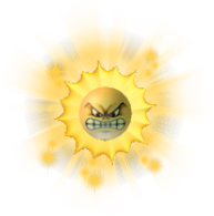 Angry Sun Art