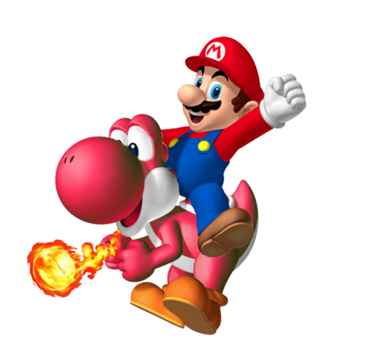 File:Red Yoshi SMW3D.png