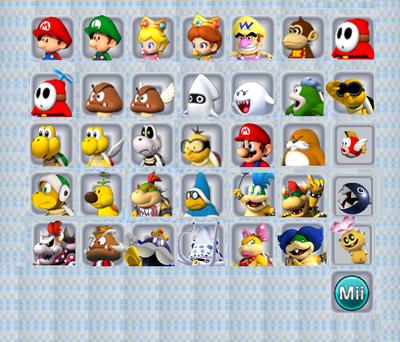 Koopa Kart 3DS Selection Screen