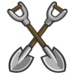 Set of 2 Shovels-icon