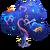Big Rainbow Neon Hearts Tree-icon
