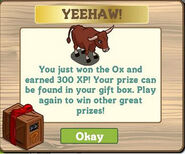 Ox mystery game notice