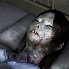 Yoshino sleeping in Katsuragi Hospital.
