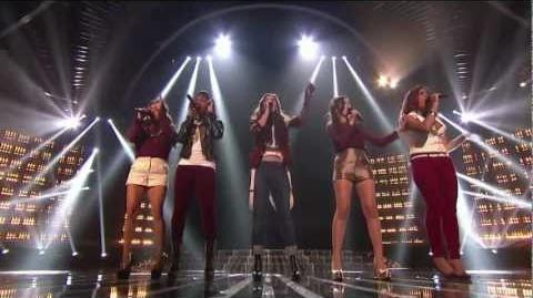 """Fifth Harmony """"Anytime You Need a Friend"""" - Live Week 6 (Sing-Off) - The X Factor USA 2012"""