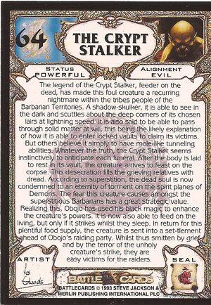 64 The Crypt Stalker US back
