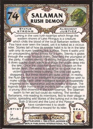 74 Salaman Rush Demon US back